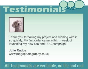 Rudge photography testimonial